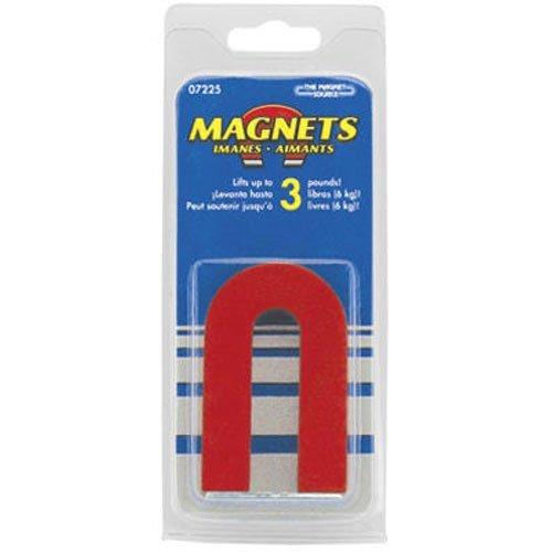 Red Cast Alnico 5 imán en forma de U con guardador, 1-3/16 pulgadas de ancho, 2 pulgadas de alto, 1/4 pulgadas de grosor (paquete de 1)