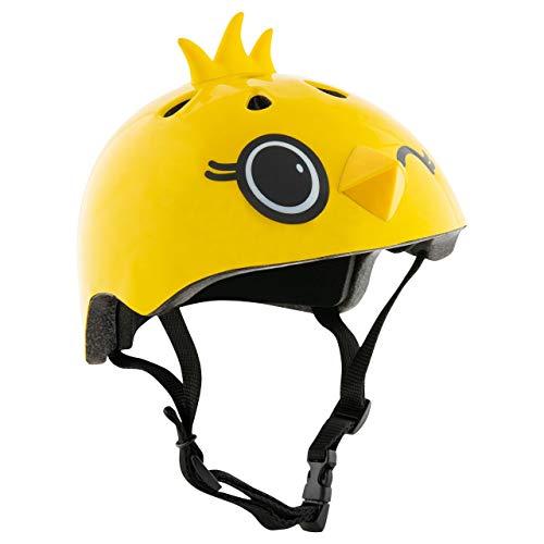 HUDORA Fahrrad-Helm Kinder, Gr. 51-53 Nitro Motors Kiki-Casco de Ciclismo para niños, Talla, Infantil, Amarillo