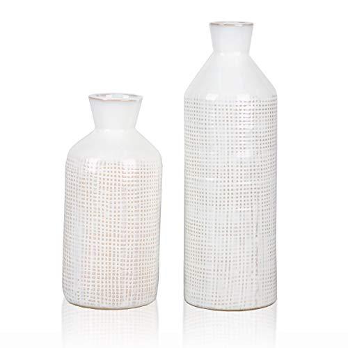TERESA'S COLLECTIONS Ensemble de 2 vases en Céramique 24cm...