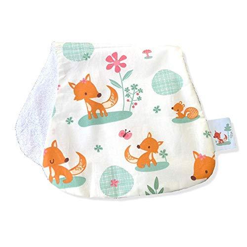 millemarille Spucktuch & Kuscheltuch aus Bambusfrottee | antibakteriell & saugstark, Ökotex 100 | hygienische Alternative zu Mullwindeln & Moltontüchern | für Baby-Erstausstattung | Sweet Foxes