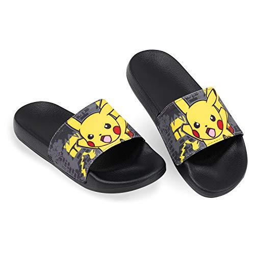 Pokémon Kids Sliders Pikachu Sandales de piscine d'été pour garçons - Noir - Noir , 32 EU