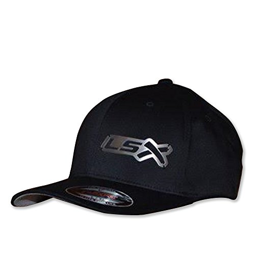 LSX Hotrods&Musclecars Official Metal Hats (Black hat (Stainless Badge), l/XL (7 1/8-7 5/8))