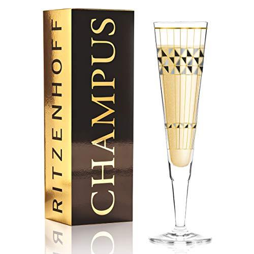 RITZENHOFF 1070272 Champus - Vaso de champán (cristal, 205 ml)