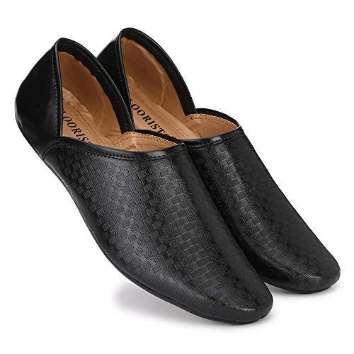 Flooristo Ethnic/Formal/Casual/Loafer Shoes for Men (8uk/ind (Eu-42), Black)