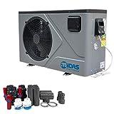 well2wellness Full-Inverter Wärmepumpe Mida.Joy 17- Poolheizung mit Einer Heizkapazität bis 16,80 kW Plus Bypass Set Basic + Abdeckung