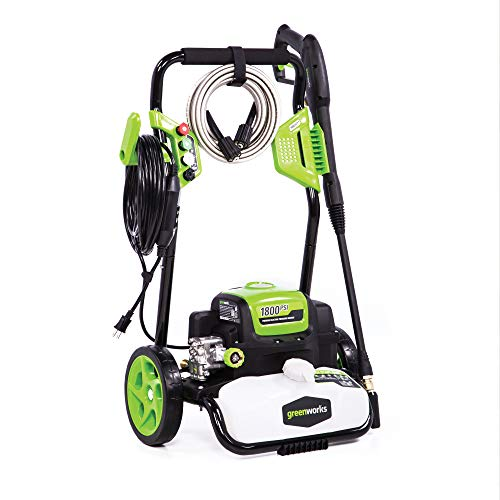 Greenworks GPW1800 Electric Pressure Washer 1800 PSI 13 Amp 1.1 GPM