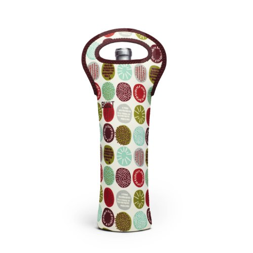 Price comparison product image BUILT NY Neoprene Wine / Water Bottle Tote,  Peppermint Jubilee