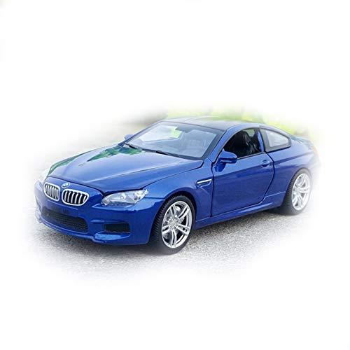 NMBD Coche Coupe De Lujo De Metal De Aleación Fundido A Escala 1:32 para BMW M6, Modelo De Colección, Juguetes con Sonido Y Luz Colección (Color : Azul)