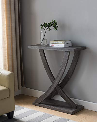 161864 Mid Century Modern Entry Hall Console Table Distressed Grey Color Sofa Table Buy Online In Bosnia And Herzegovina At Bosnia Desertcart Com Productid 123701325