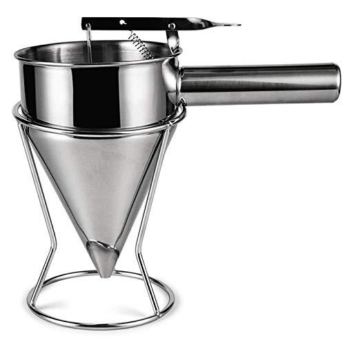 LZWOZ Herramienta condimento Gran Embudo Cocina líquido de Acero Inoxidable Ideal, con Embudo de cocinar Embudo (Color : Silver)