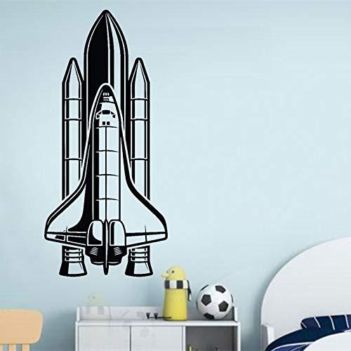 Transbordador espacial Emisión Cohete Nave espacial Avión Astronauta Vinilo Etiqueta de la pared Niño Niños Guardería Dormitorio Sala de estar Oficina Estudio Decoración para el hogar Mural