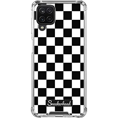 Skinit Clear Phone Case Compatible with Samsung Galaxy A12 - Skinit Originally Designed Sneakerhead Checkered Design
