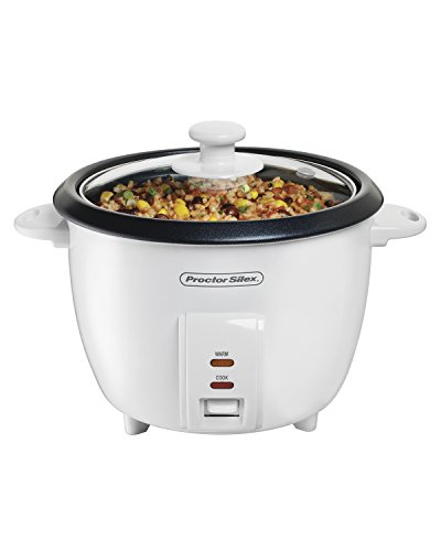 Proctor Silex 5-Cups uncooked resulting in 10-Cups Cooked Rice Cooker, White (37533N)