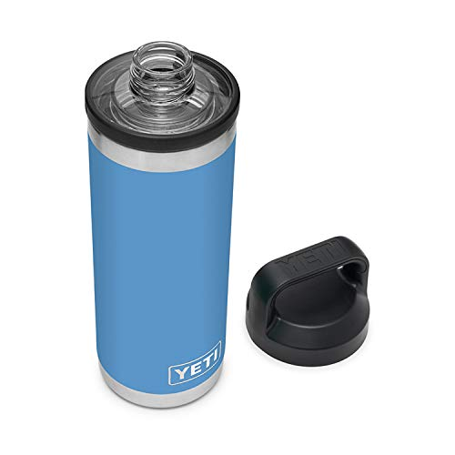 YETI Rambler 18 oz Bottle, Vacuum Insulated, Stainless Steel with Chug Cap, Pacific Blue