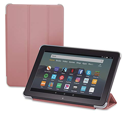 Nupro Tri-fold Standing Case for Fire HD 8 Tablet, Plum (10th Gen, 2020 Release)