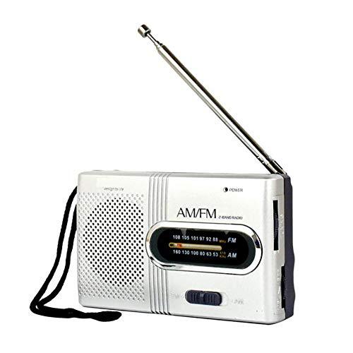 C- Mini tragbare AM/FM-Taschenradio-Teleskopantenne Pocket World-Empfänger-Lautsprecher -Drop, betrieben von AAA-Batterien zum Gehen, Joggen und Camping