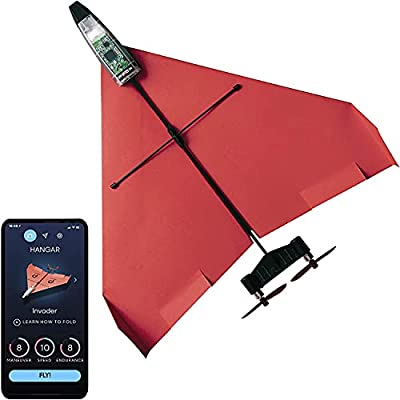 POWERUP 4.0 The Next-Generation Smartphone Controlled Paper Airplane Kit, RC Controlled. Easy to Fly with Autopilot & Gyro Stabilizer. For Hobbyists, Pilots, Tinkerers. STEM Ready with DIY Modular Kit