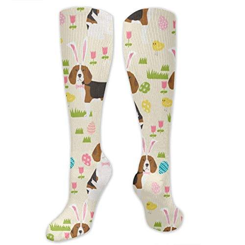 zhouyongz Lindo Buncute Bunny Ears Puppiesny Ears Athletic Tube Medias Mujeres Hombres Deporte Calcetines Largos