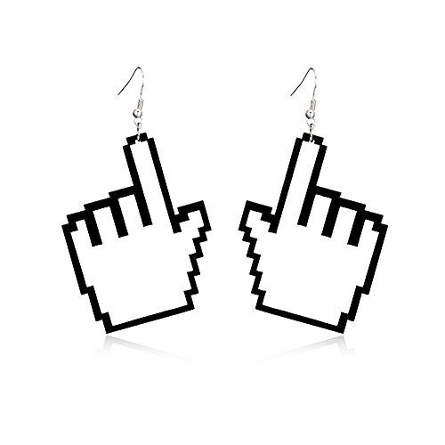 Tidoo Jewelry Lovely Acrylic Dangle Stud Earring Punk Style Nightclub Exaggeration Hip Hop Jewelry