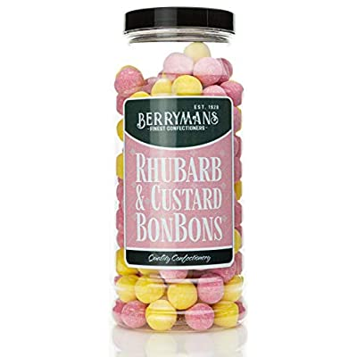 original rhubarb & custard bonbons retro sweets gift jar by berrymans sweet shop (bon bons) - classic sweets, traditional taste. Original Rhubarb & Custard BonBons Retro Sweets Gift Jar by Berrymans Sweet Shop (Bon Bons) – Classic Sweets… 413bFoK5eiL
