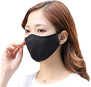 100% Mulberry Silk Face Mouth Mask with Filter Pocket...
