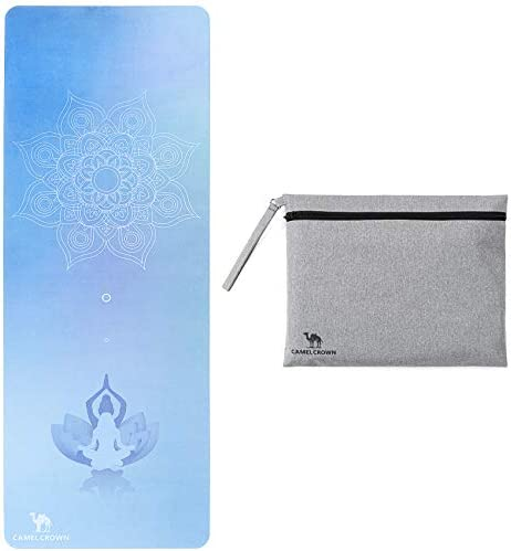 CAMEL CROWN Yoga Mat Non Slip Folding Travel Exercise and Fitness Mat Types of Yoga Pilates product image