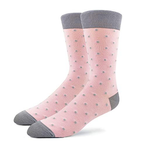 Patron Socks - 1 Paar Bunte Herren Socken, Socken mit Punkten, Socken mit Muster, Gemusterte Socken, Witzige Socken, Mehrfarbige Socken aus Baumwolle (41-46)