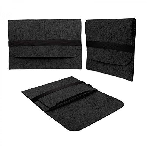 eFabrik Schutz Tasche für Acer Aspire Switch 10 HD (10,1 ') Filz Hülle Sleeve dunkelgrau