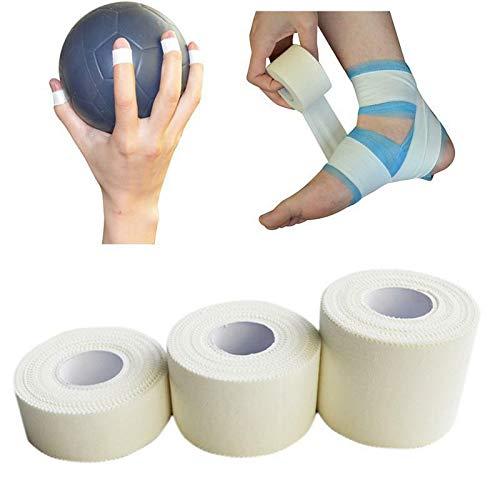 Cinta de vendaje SENRISE autoadhesiva elástica vendaje, fuerte cinta atlética para apoyo de articulaciones, deportes cómodos, rugby, cinta de fútbol para estabilización (blanco), blanco