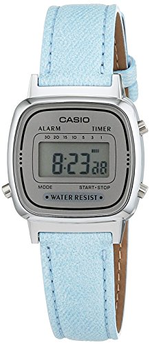 CASIO Collection Orologio da Polso, Quadrante Digitale, Unisex Pelle, Colore Turchese