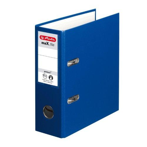 Herlitz Ordner Kunststoff A5 hoch 75mm blau