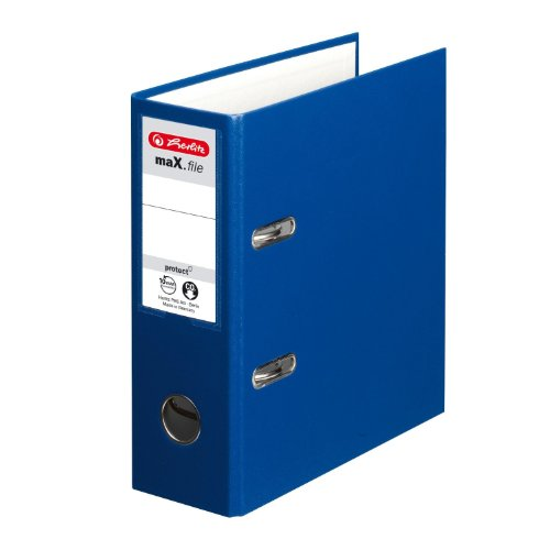 Herlitz O- Archivador anillas A5 75 mm color azul