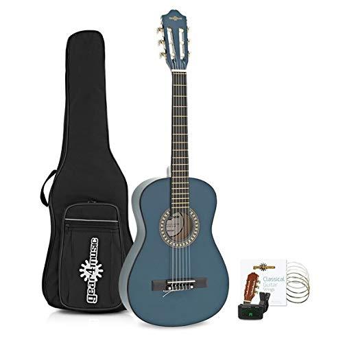 Paquete de Guitarra Espanola Junior de 1/2 de Gear4music Blue
