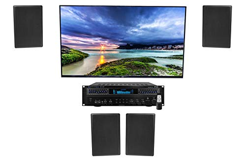 "Technical Pro RX113 1500 Watt Home Theater Amplifier Receiver+(4) 5.25"" Speakers"