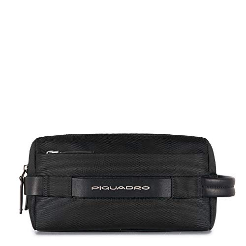 Piquadro Move 2 Beauty Case da Viaggio, Sintetico, Nero, 24 cm
