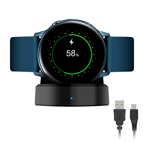 FASTSNAIL - Caricabatterie per Samsung Galaxy Watch Active/Active 2, 40 mm 44 mm, supporto di ricarica wireless per Galaxy Watch Active/Active 2, 40 mm, 44 mm...
