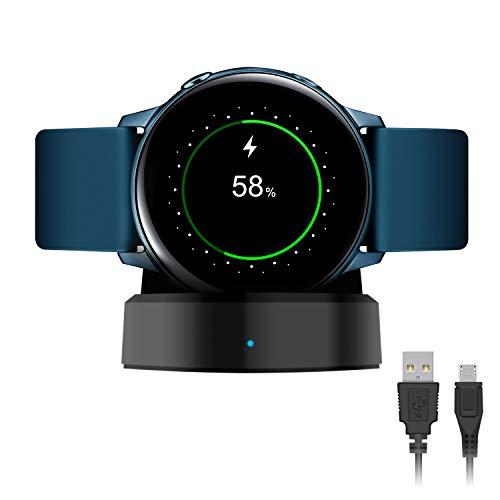 Fastsnail Ladegerät für Samsung Galaxy Watch Active/Active 2, 40 mm, 44 mm, kabellose Ladestation für Galaxy Watch Active/Active 2, 40 mm, 44 mm, SM-R500 mit einem 1 m Kabel