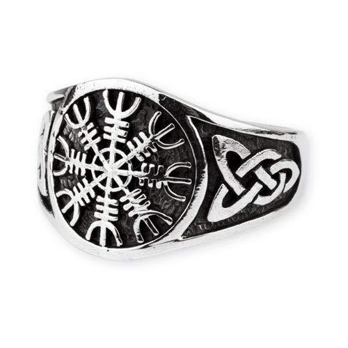 Wikinger Isländisch Aegishjalmur Ring Elhaz-Rune Eagershelm (59 (18.8))