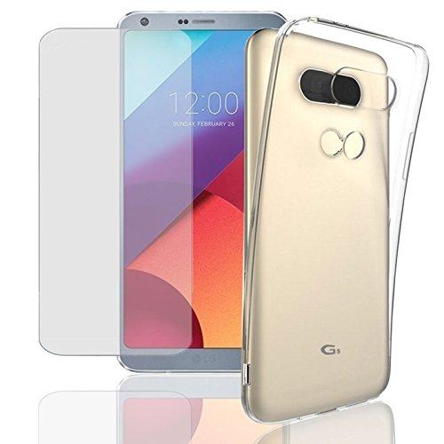Eximmobile Silikon Hülle + Panzerfolie für LG X Cam Handyhülle mit 9H Echt Glasfolie Schutzhülle mit Schutzfolie Handytasche Silikonhülle Tasche Hülle Bildschirmschutzfolie Bildschirmschutz