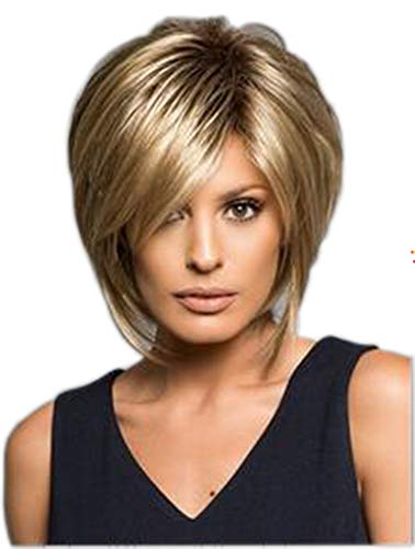Chic Short Textured Layered Daily Bob Wig for Women & Girls