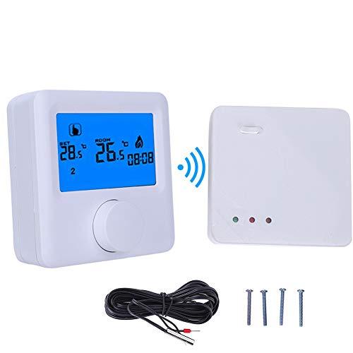 Termostato Digital, Controlador de Temperatura de Calentamiento inalámbrico RF Digital LCD para Sistema de calefacción eléctrica
