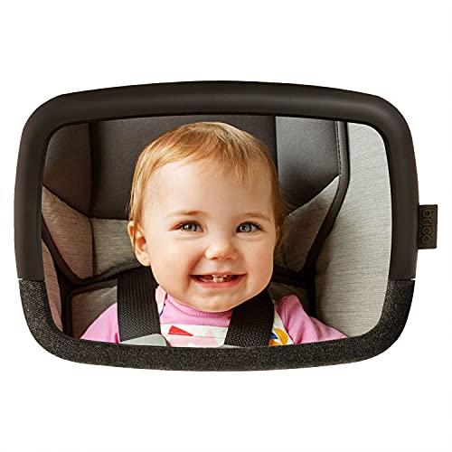 Munchkin Brica by Munchkin Espejo ajustable pivotante para el coche de 360 grados Baby In Sight; de Brica by Munchkin; con pruebas de choque R 44 superadas y resistente a rayaduras; negro