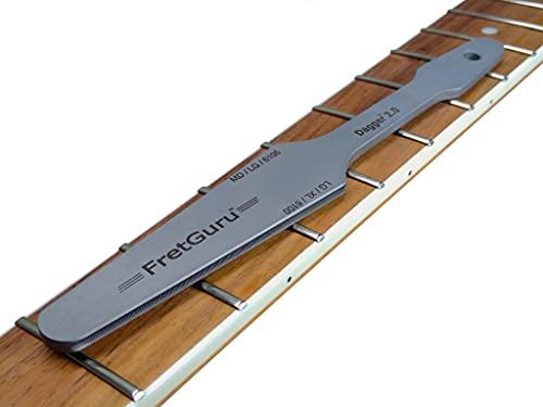 FretGuru Fret Crowning File °Dagger 2.0° Professional Guitar Luthier Tool Electric Acoustic Bass