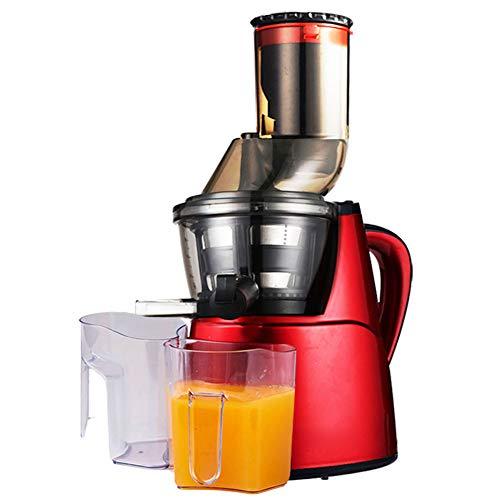 QQT Household Large-Caliber Juice Machine, Slow juicer, Food Processor, Multi-Function Juice Machine-red