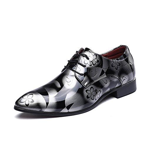 Zapatos Oxford Hombre, Cuero Cordones Vestir Derby Calzado Boda Negocios Marron Azul...