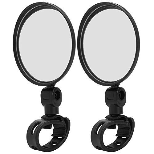 Elektroroller Rückspiegel 2 Stück Fahrradspiegel Weitwinkel Reflektierend Motorrad Spiegel Rückspiegel Seitenspiegel für Fahrrad Scooter