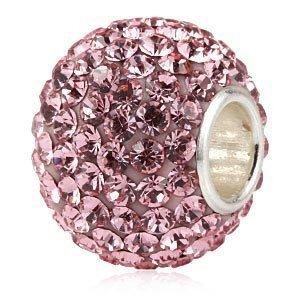 Andante-Stones 925 sterling zilver kristal glitter bedel