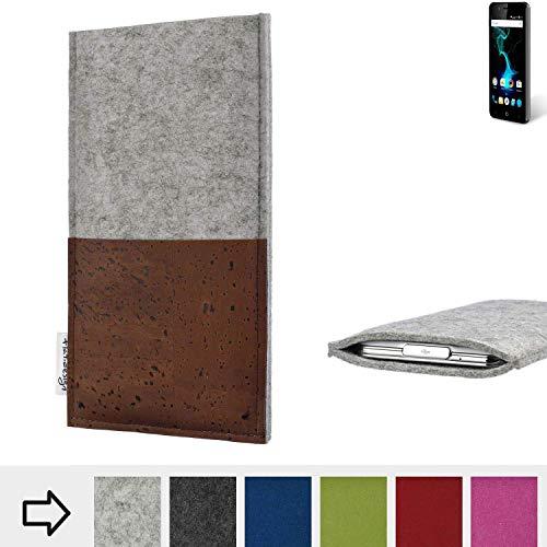 flat.design Handy Hülle Evora für Allview P6 Pro maßgefertigte Handytasche Kork Filz Tasche Case fair