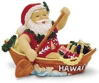 Hawaiian Canoeing Santa Christmas Ornament