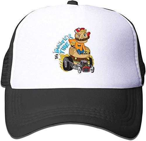 asdew987 Trucker Cap It's Burger Time Black Hat Baseball Cap Kids Casual Hats